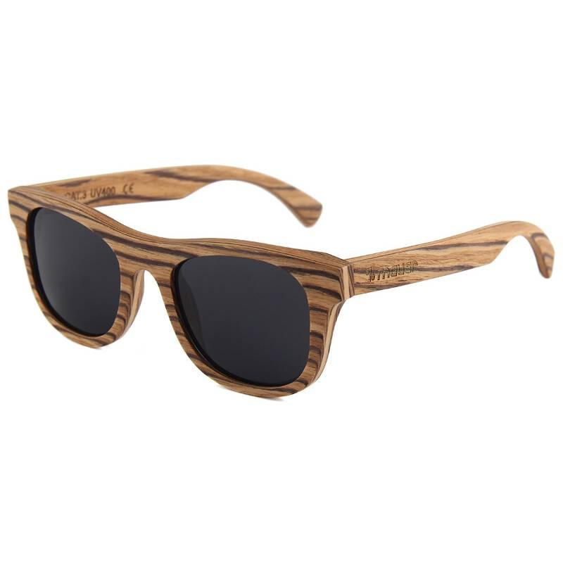 gafas de sol de madera cuney de madera de zebrano