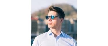 McKinsey blue wood sunglasses