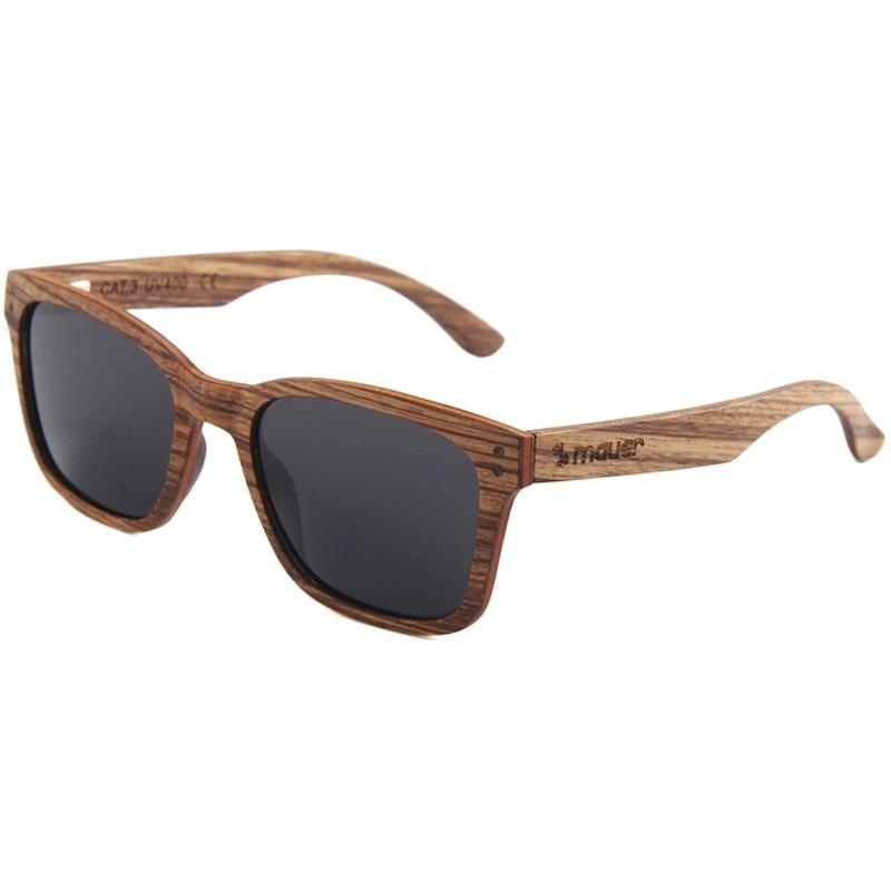 gafas de sol de madera woodside de zebrano marca mauer