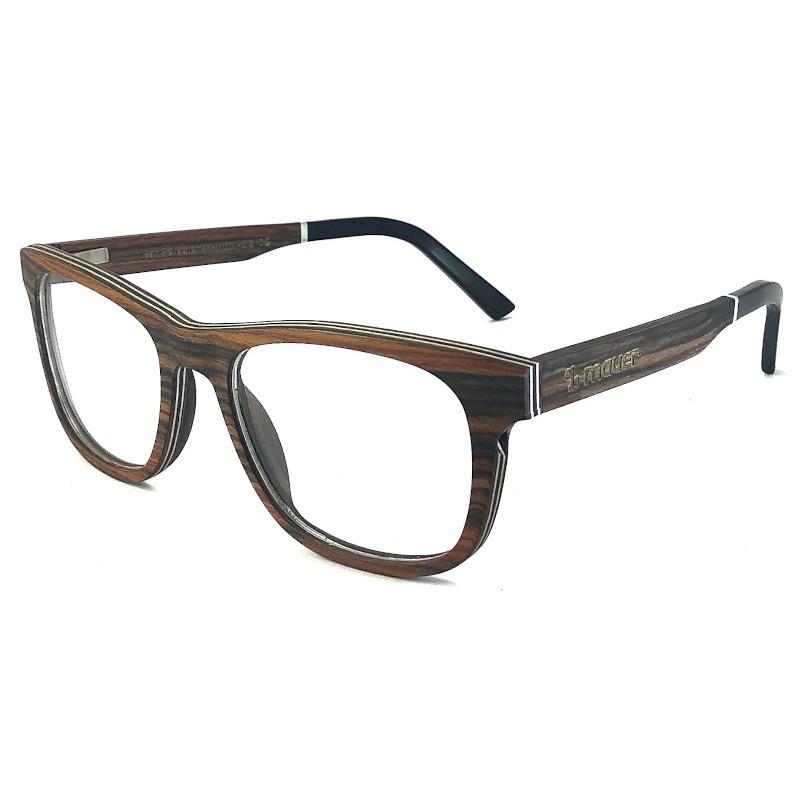 Gafas de madera Palo Rosa greduadas modelo Berlin de Mauer